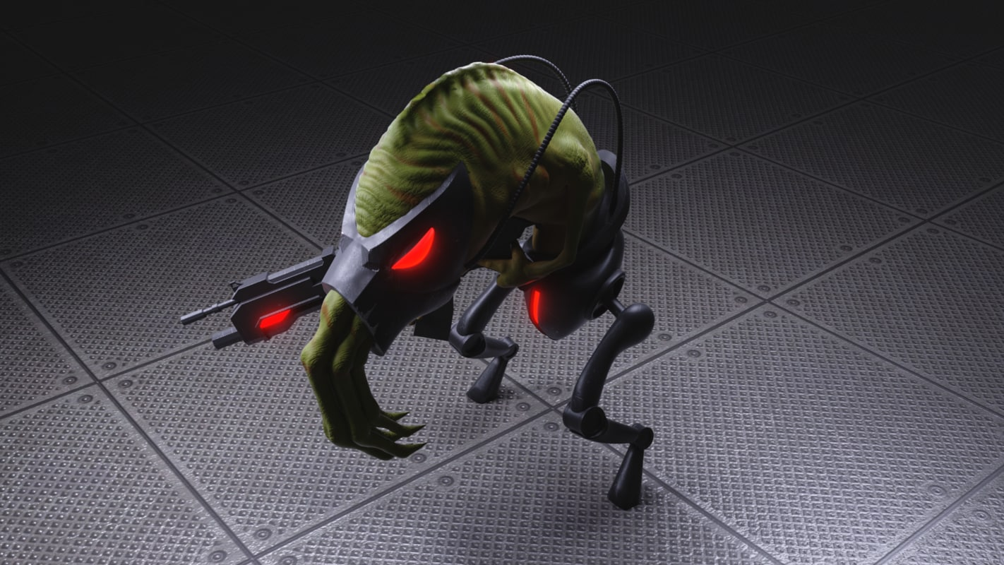 3D slig abbes oddysee model