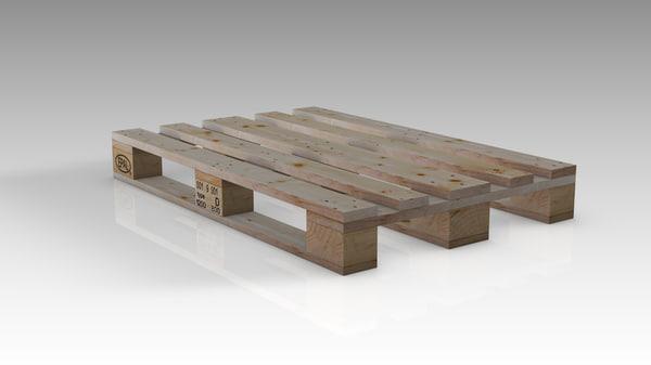 wood pallet 3D