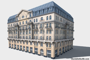3D neoclassical hotel