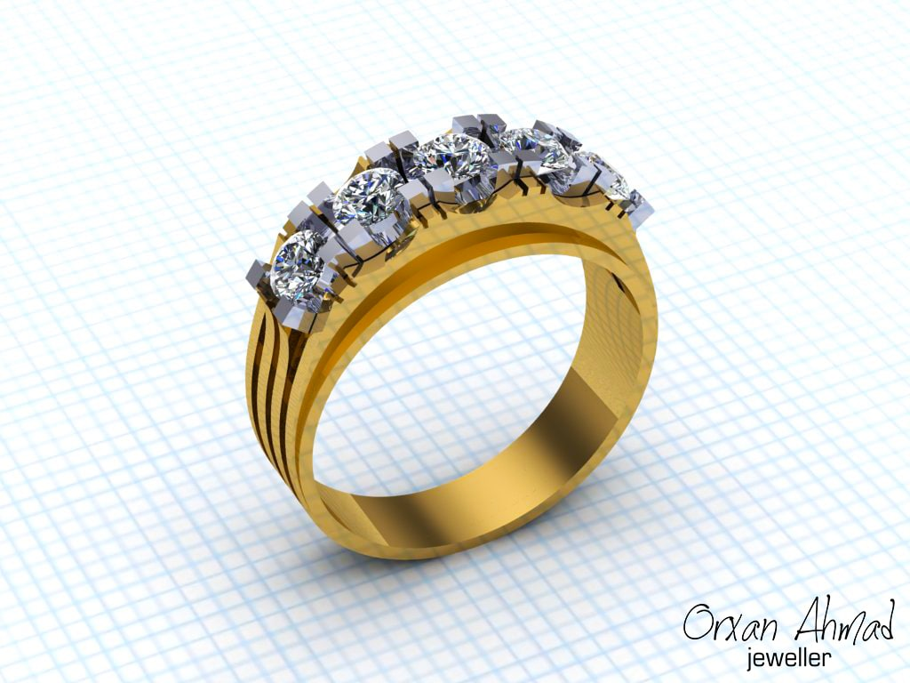 3D men ring