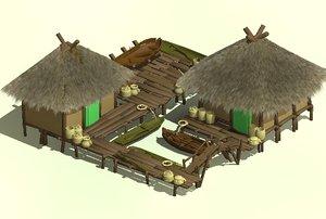 3D model dock age empires
