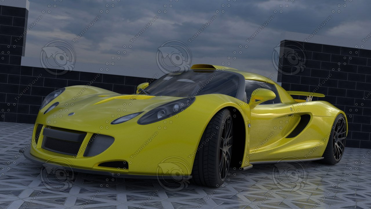 sports car hennessey venom 3D model