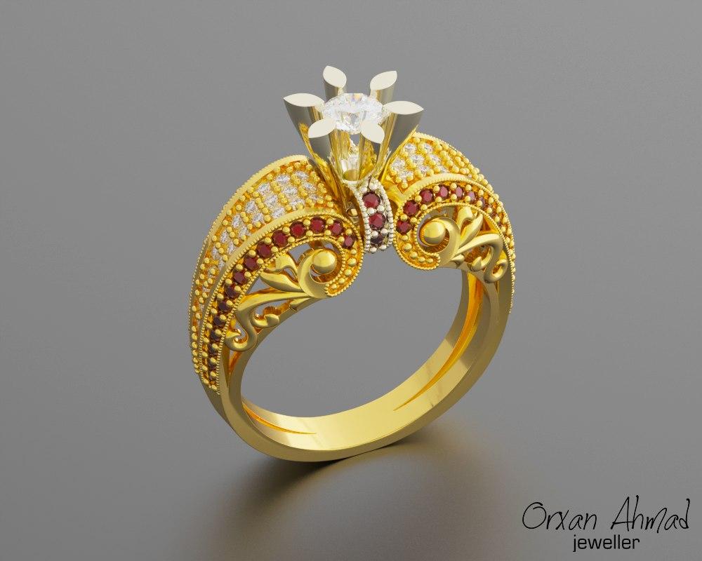 3D women ring