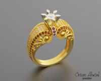 Fushion Engagement  Women ring