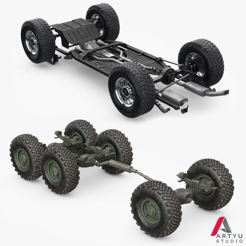 3D suv truck chassis frame model