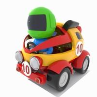 3D racing car toon