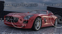 sport car mercedes-benz sls 3D model