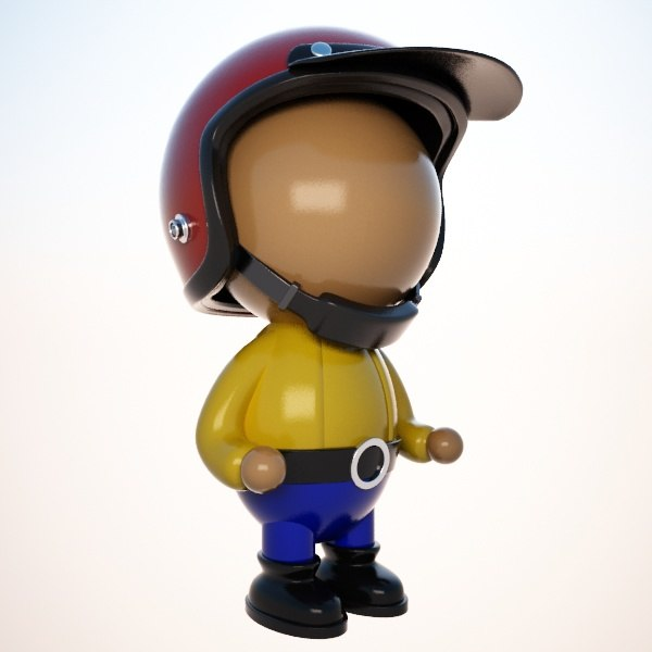 toon delivery guy 3D model