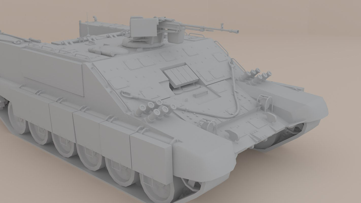 3D heavy armored personnel carrier model
