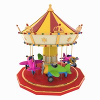 toon carousel 3D model