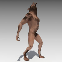 werewolf animations 3D model