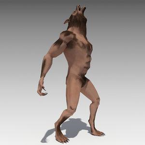 werewolf animations 3D model