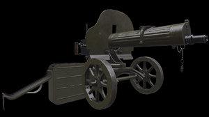 3D soviet maxim machine gun model