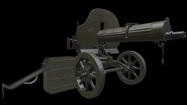 3D soviet maxim machine gun model