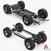 suv car chassis frame 3D model