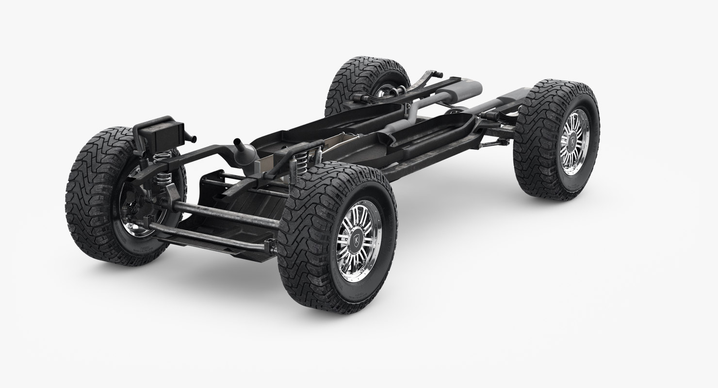 Suv car chassis frame 3D model - TurboSquid 1159372