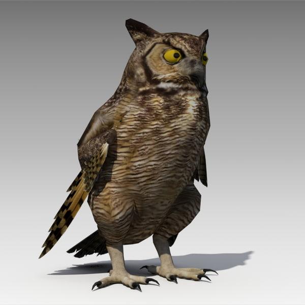 owl animations 3D model