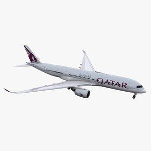 3D a350-900 qatar