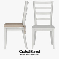 3D realistic harper dining chair model