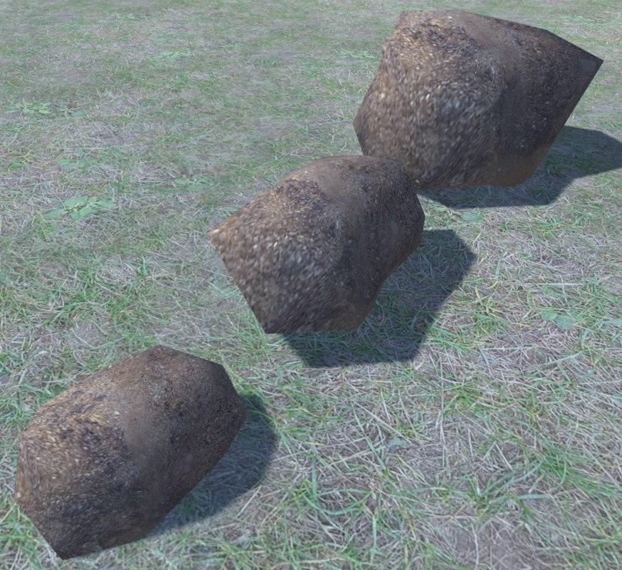 3 ultra rocks 3D model