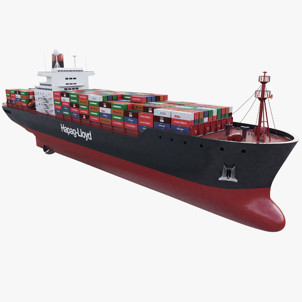 3D container ship model