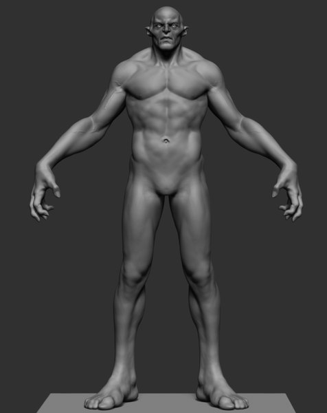 character creature ztl model