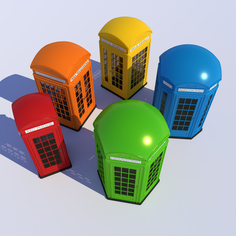 3D classical different shapes phone booth