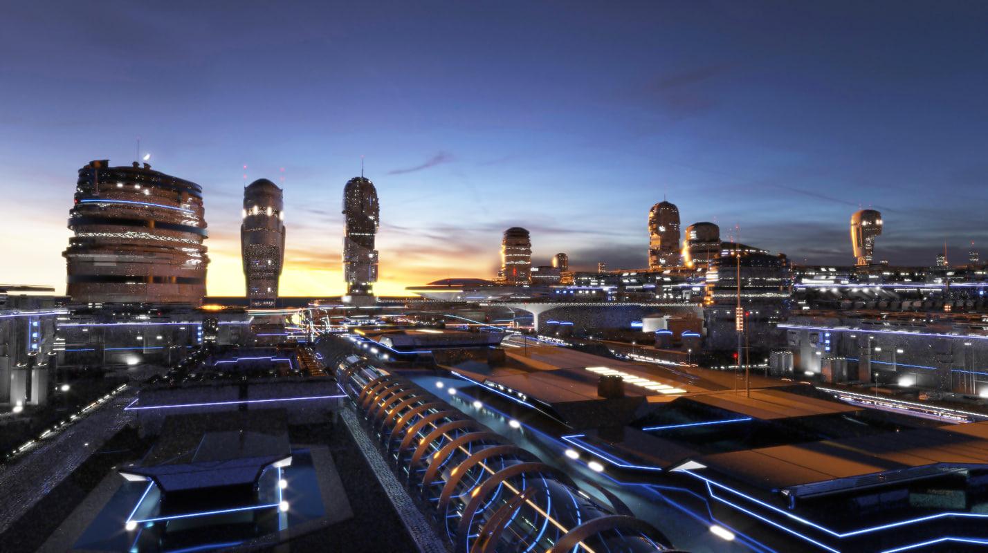 night future city 3D model