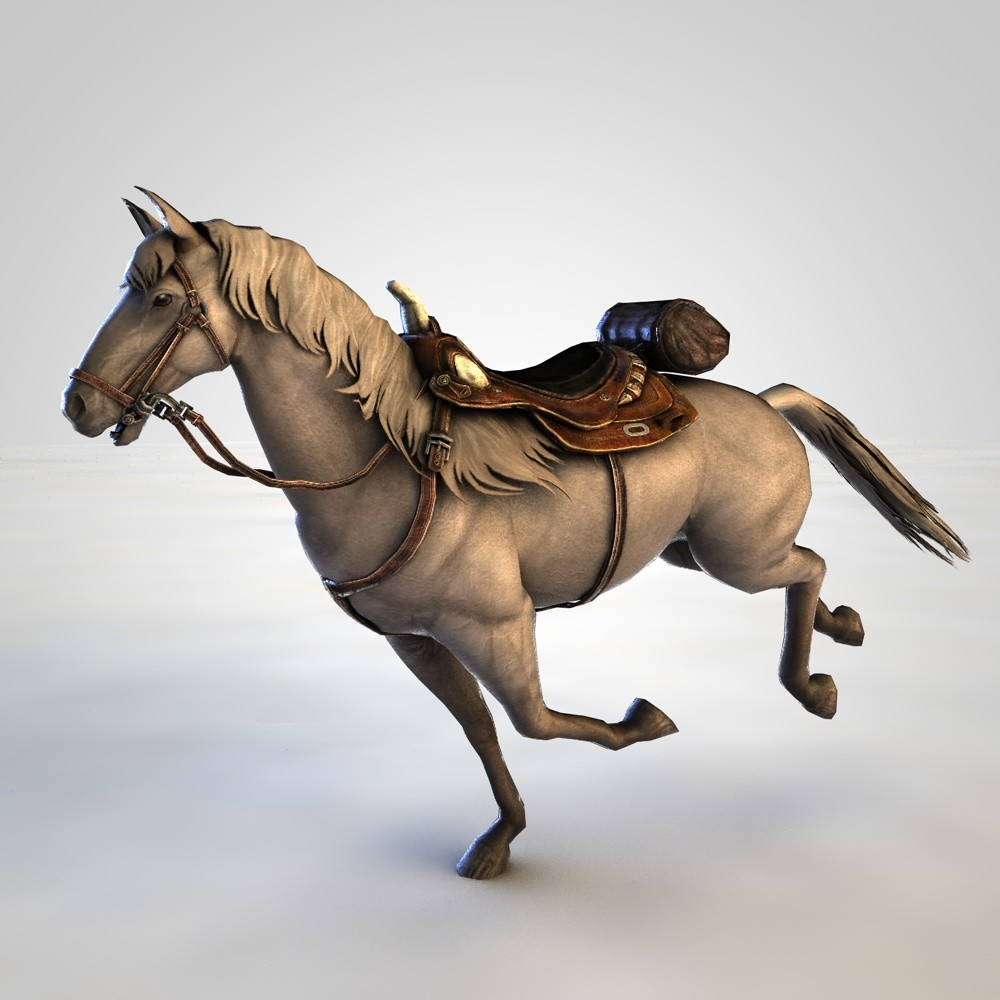 rigged horse 3D