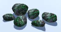 6 Low Poly Rocks