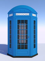 3D classical british phone