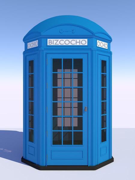 3D classical british phone