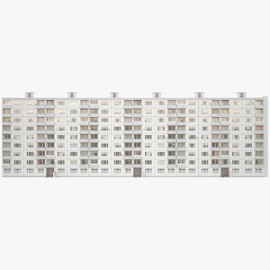 3D residential 1980 model