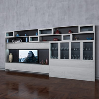 3D wardrobe tv books wall