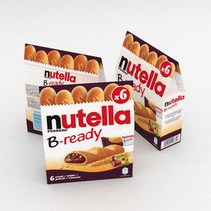 3D ferrero nutella b-ready model