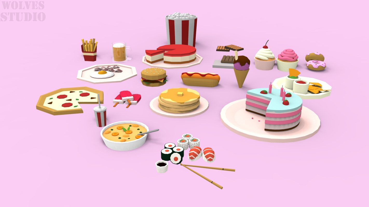 3D food pack polys