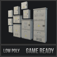 small utility boxes 3D model