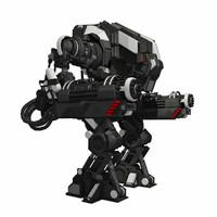 - sci-fi mech robot 3D model