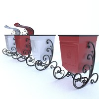 3D model trashcan ashcan