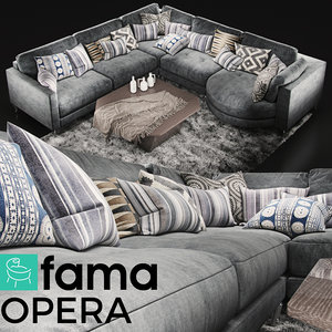sofa fama opera 3D model