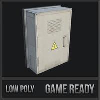 3D utility box 07 model