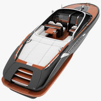 3D model riva rivamere speedboat