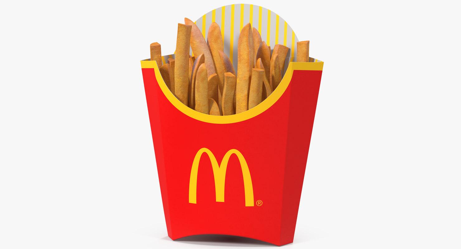 french fries mcdonalds 3D model