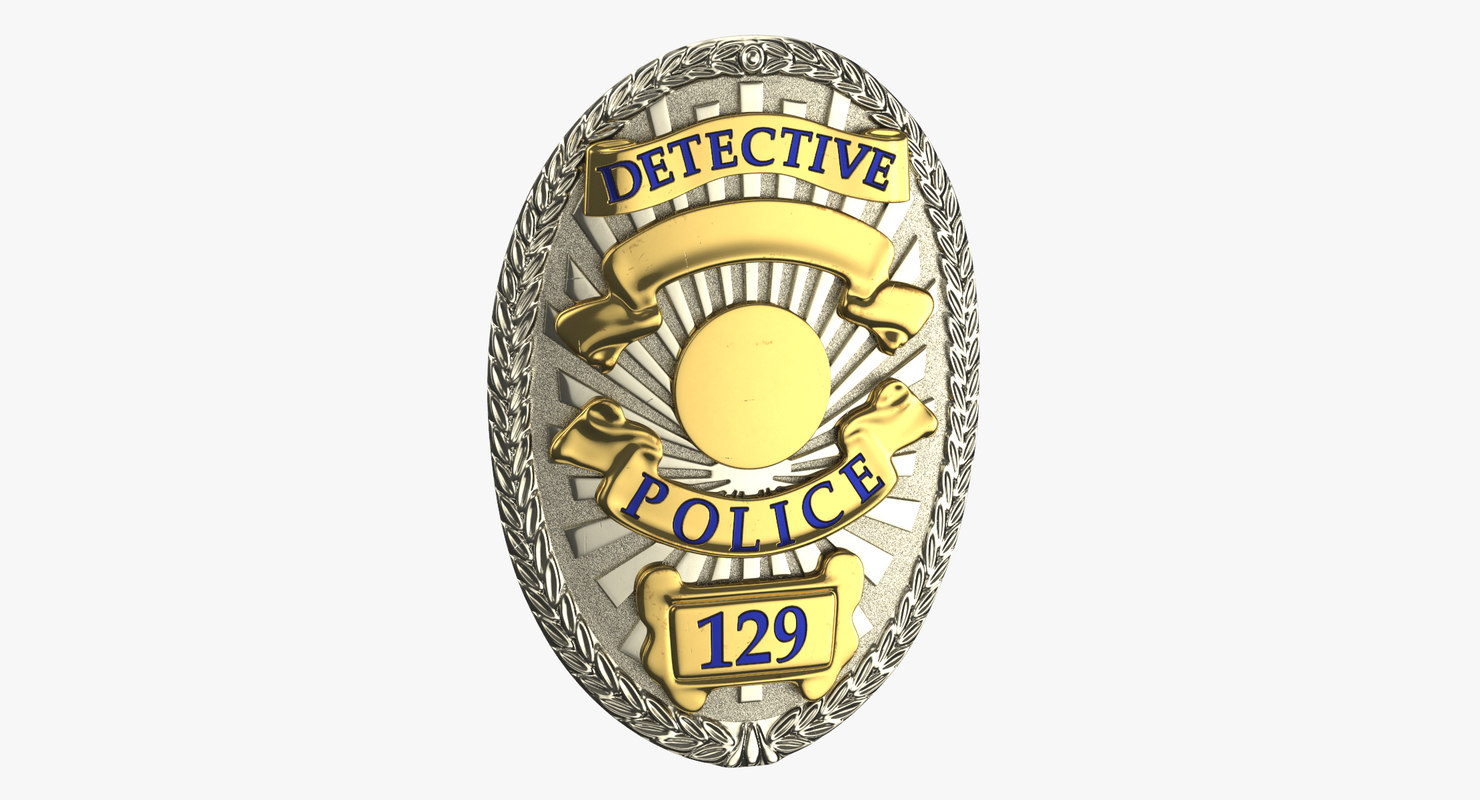 detective badge 01 3D model