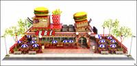 restaurant fast 3D model