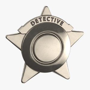 3D detective badge 02
