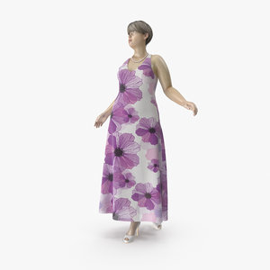 size mannequin 01 pose 3D model