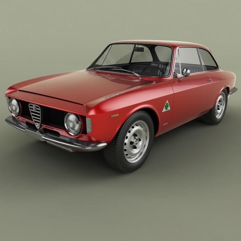 3D 1966 alfa romeo giulia model