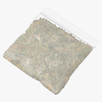 3D model small drug baggie marijuana