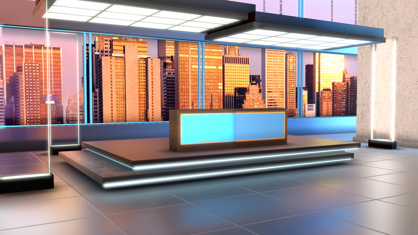 3D virtual set politics tv